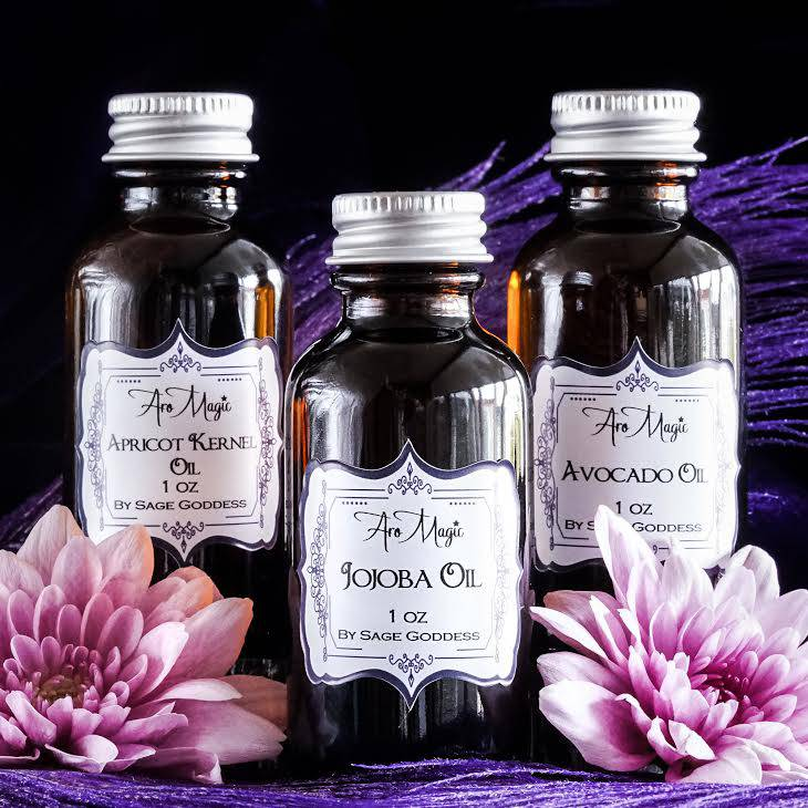 Carrier Oil 3 Pack for goddess beauty and extended youth