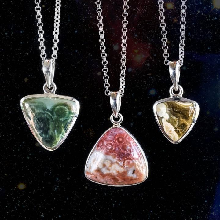 ocean jasper pendants