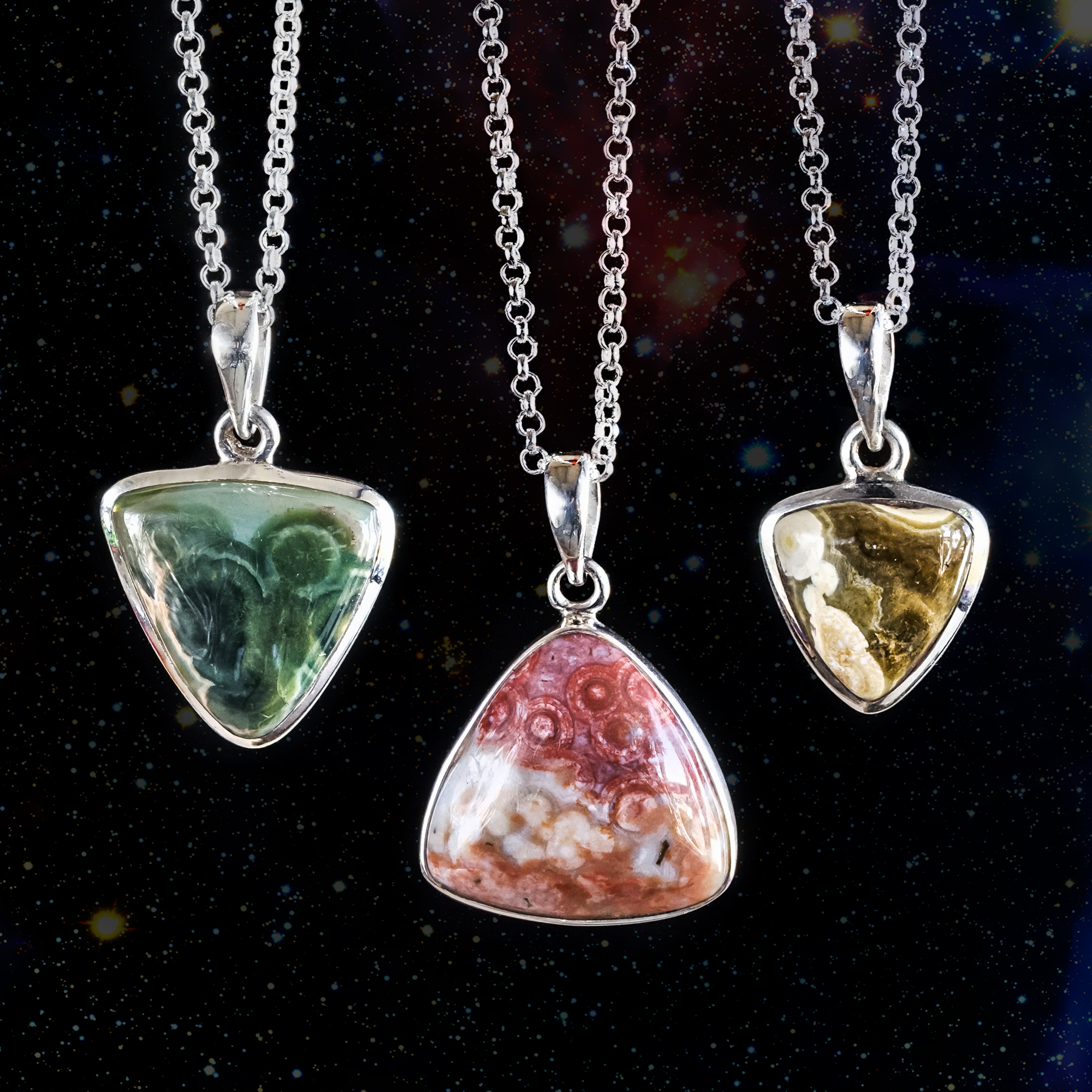 Ocean jasper pendants for attracting love and happiness aloadofball Image collections