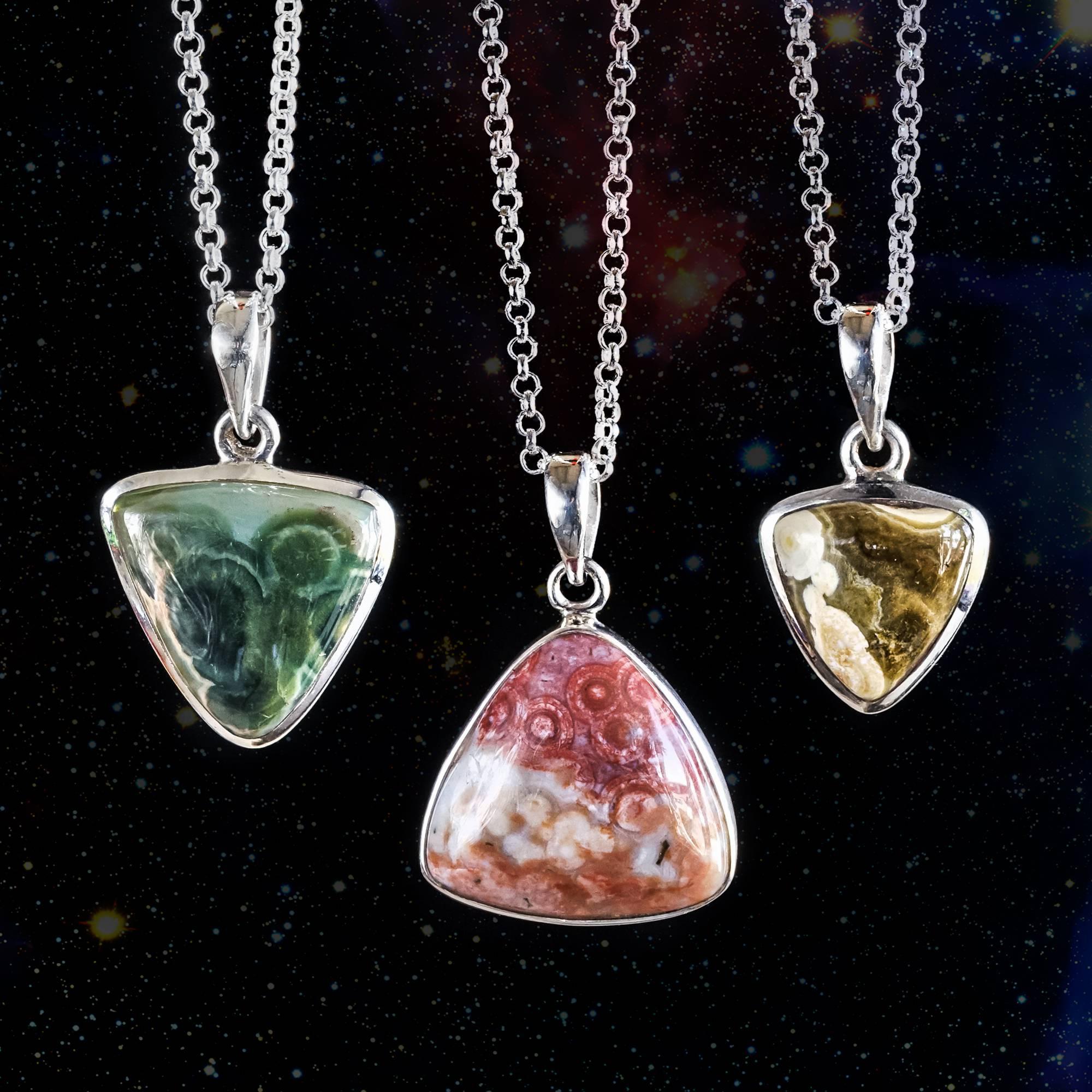 Ocean jasper pendants for attracting love and happiness ocean jasper pendants aloadofball Images