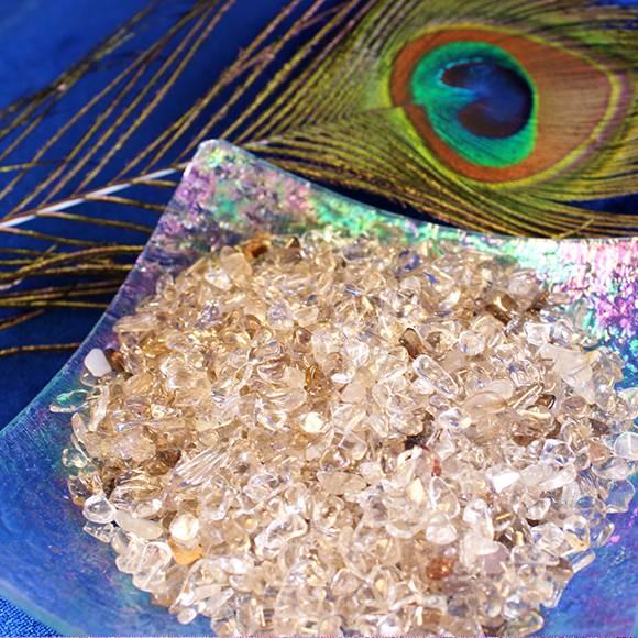 smoky quartz chip stones
