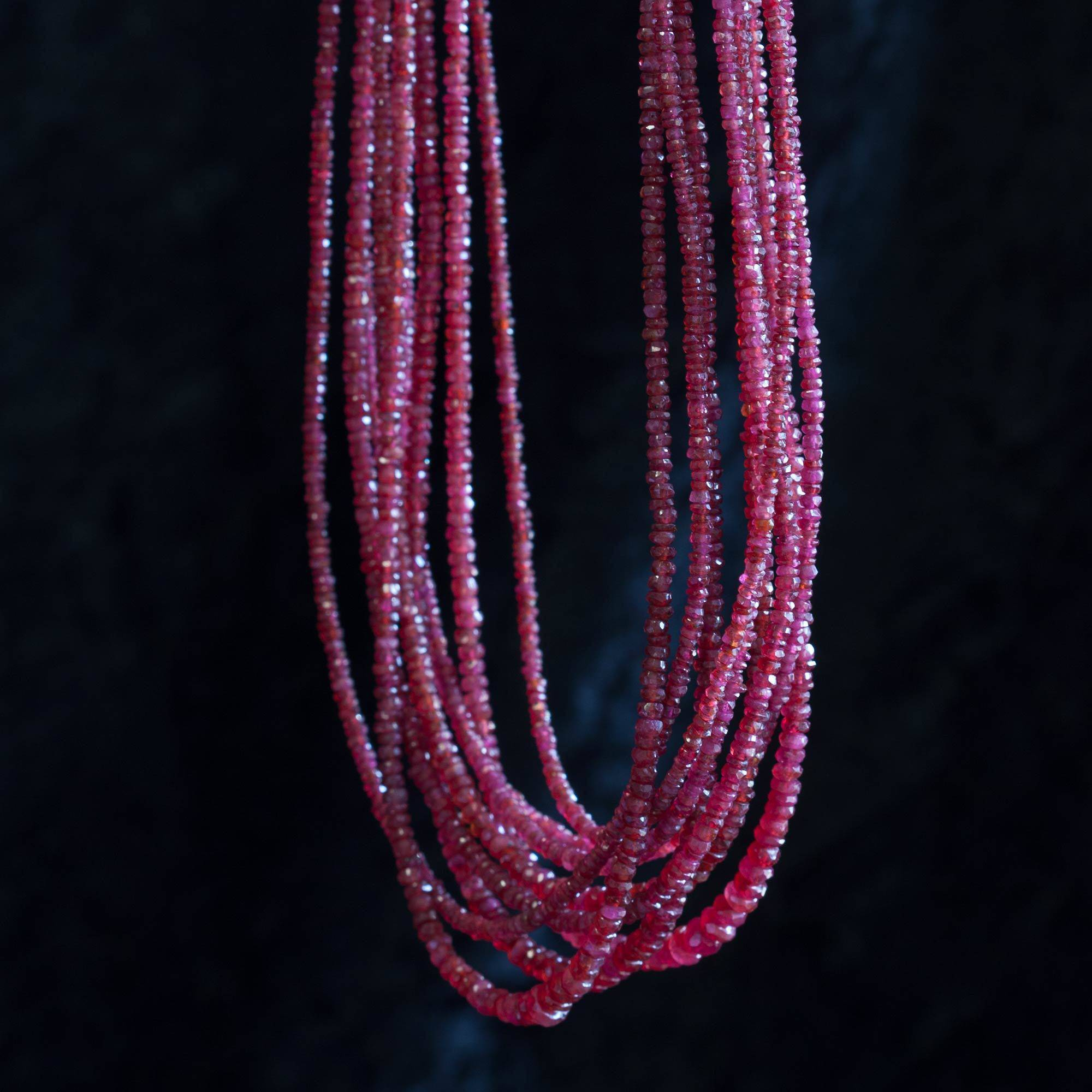 jewellery strand king necklace multi red crimson anna claret