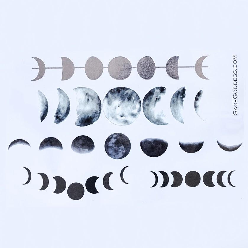 Goddess Moon Flash Tattoos