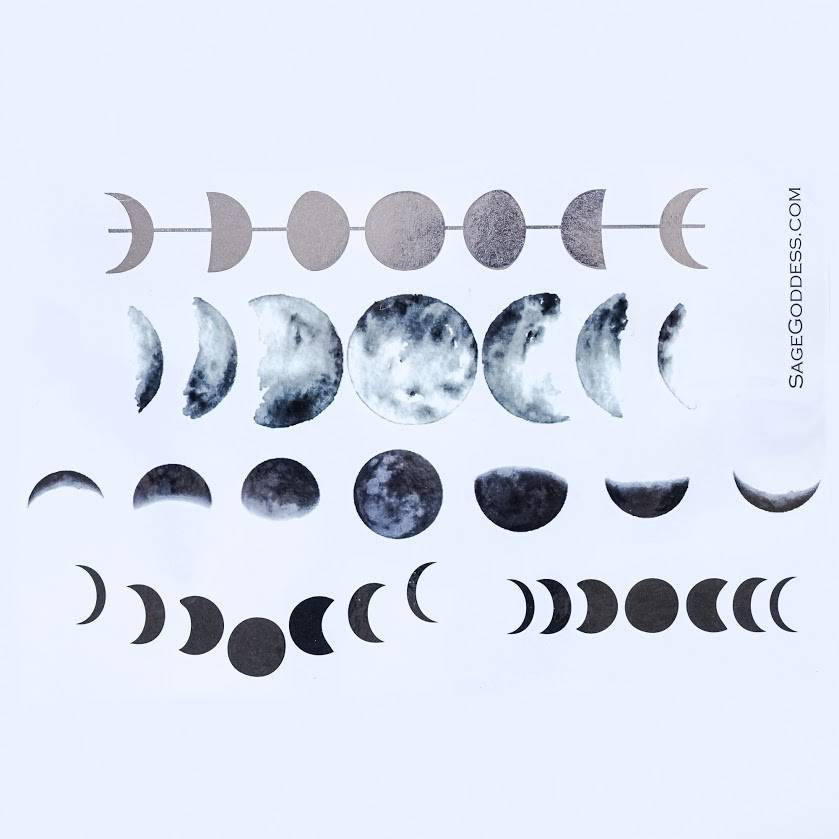 moon phase tattoos