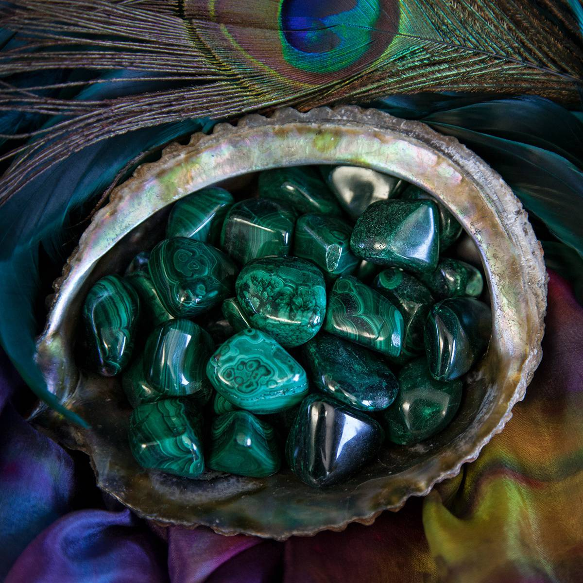 tumbled malachite for empowerment of feminine energies