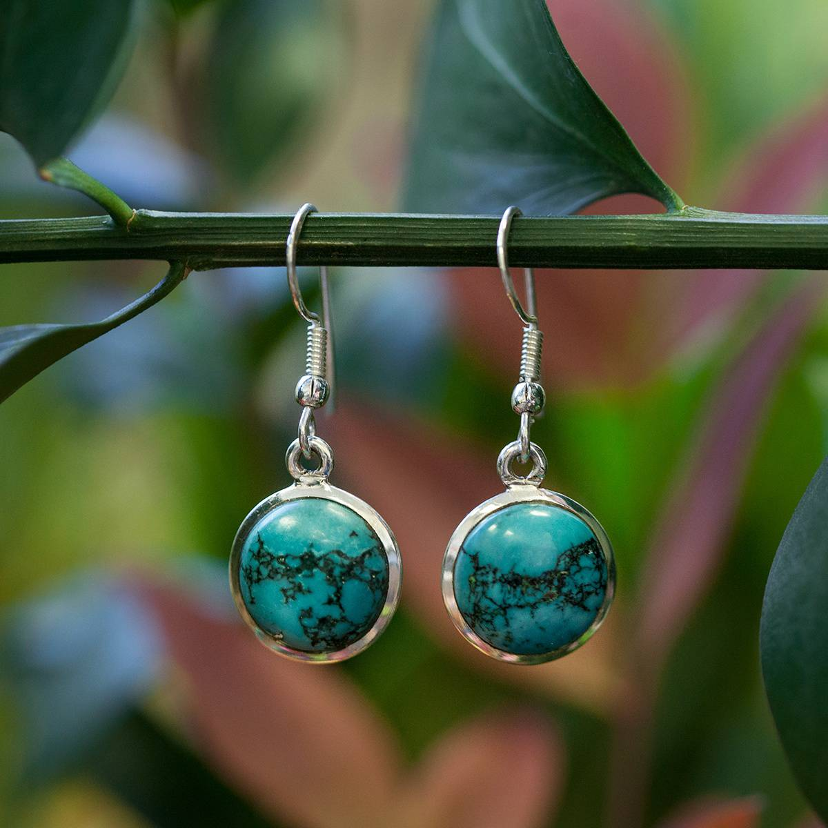 Round Turquoise Earrings 5_17