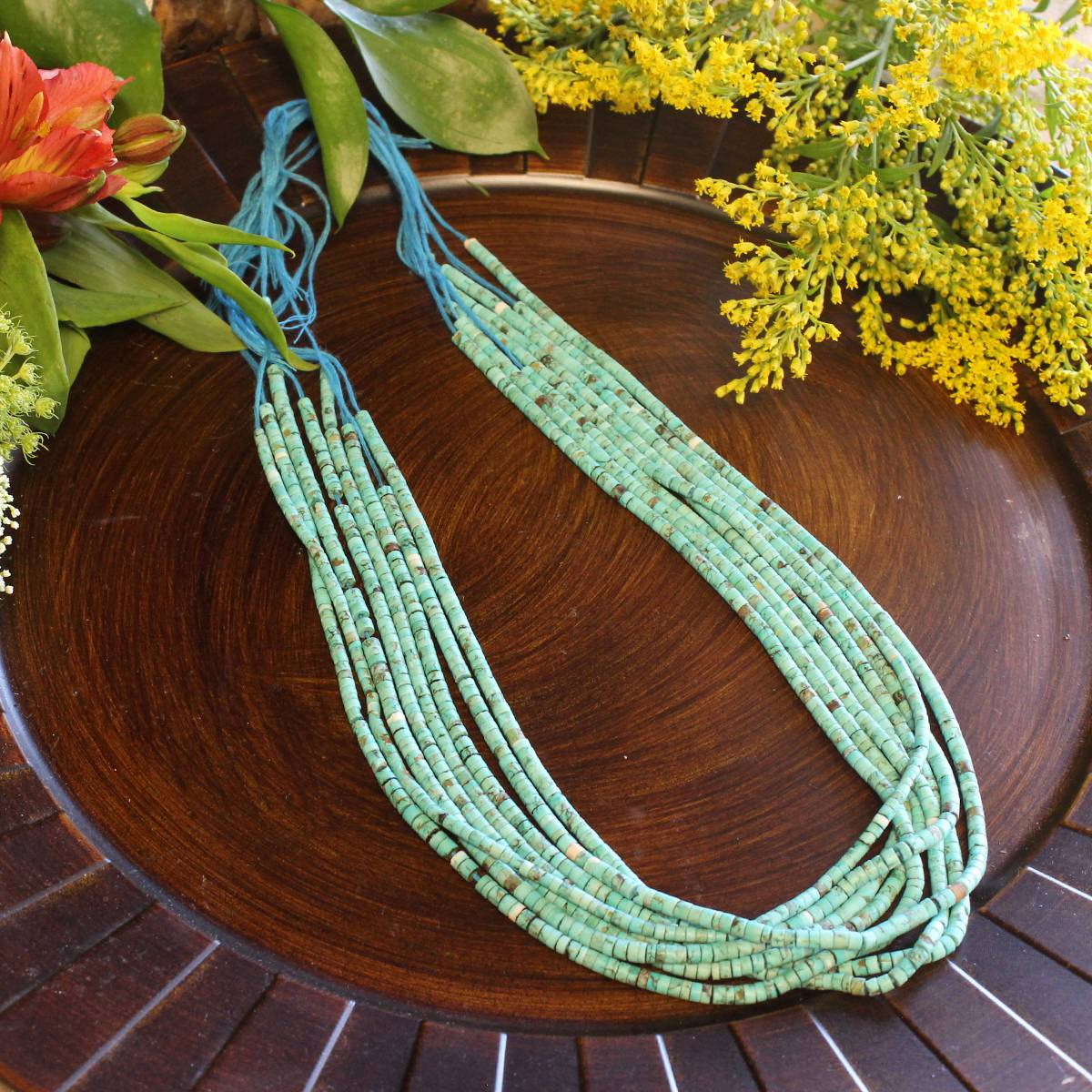 turquoise bead strands