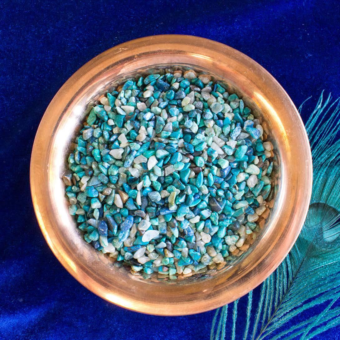 chrysocolla chip stones
