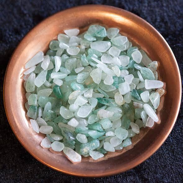 green aventurine chip stones
