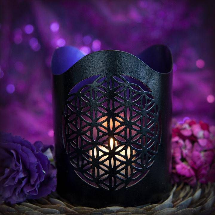 flower of life tea light holders
