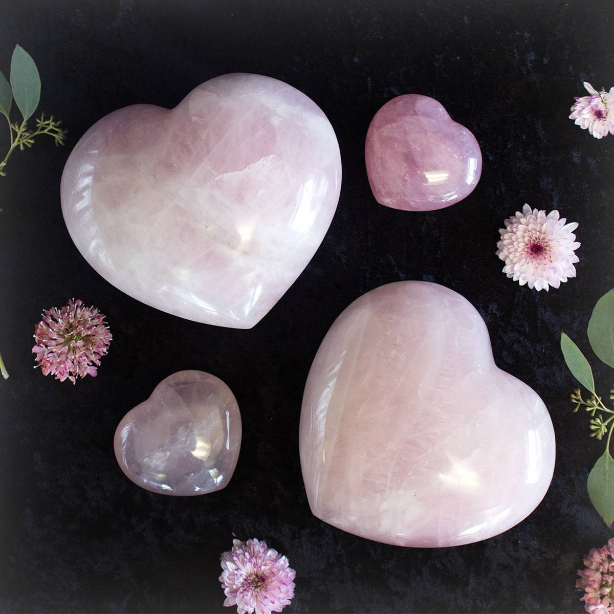 Rose Quartz Hearts For Powerful Love Medicine And Heart Healing