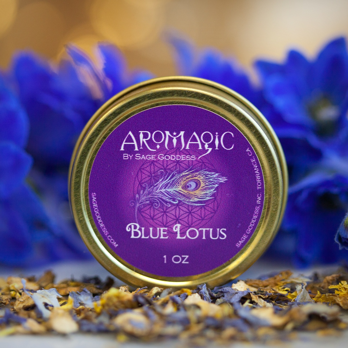 Blue Lotus Herb Tin For Revving Up Your Sex Drive And Connecting To