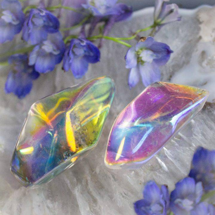 Free Form Angel Aura Quartz