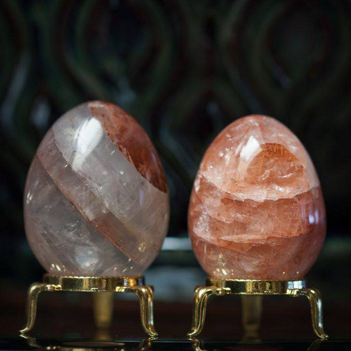 Red Hematoid Quartz Egg