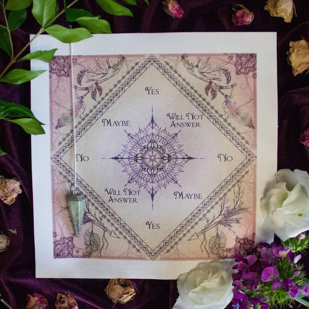 Ruby Zoisite Pendulum and SG Pendulum Mat