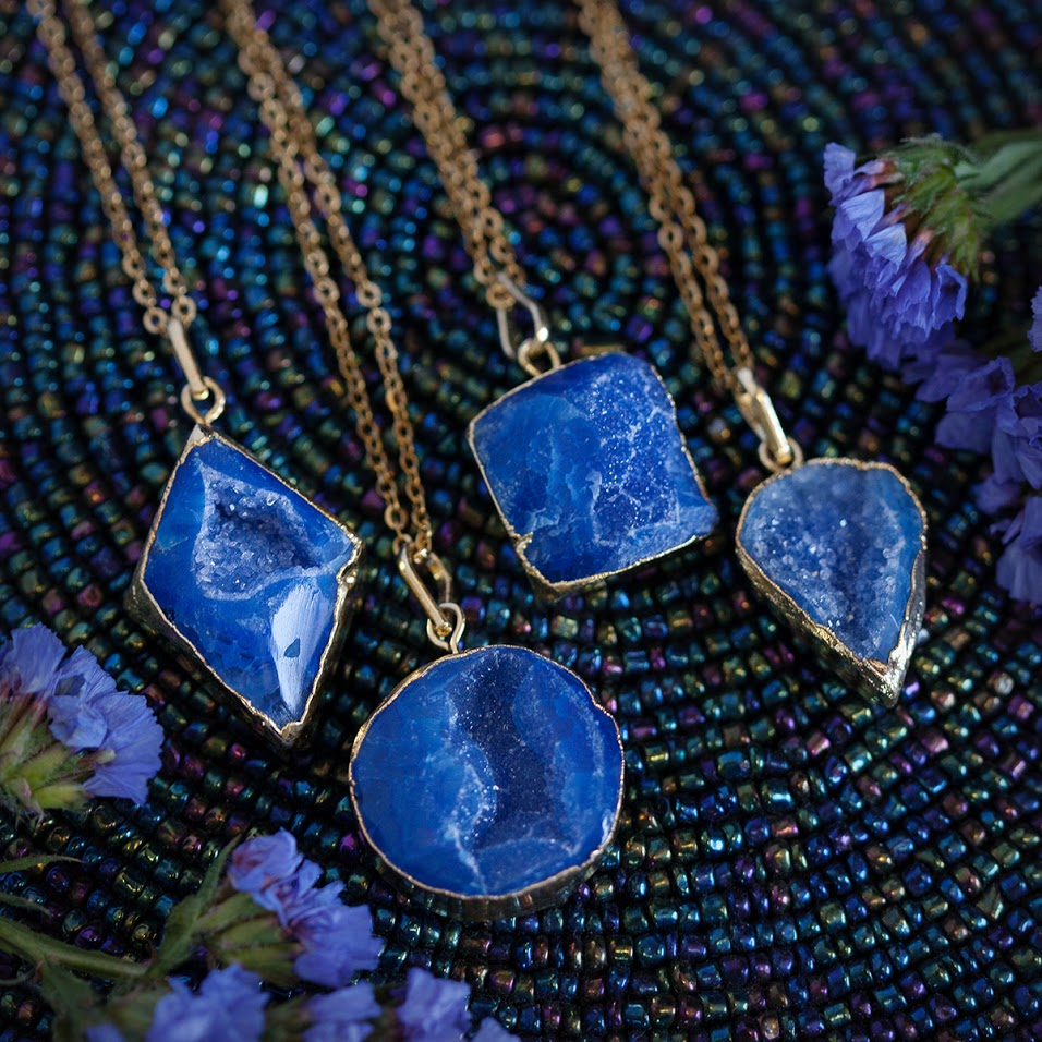 Druzy Intuition Pendants for Third Eye awakening