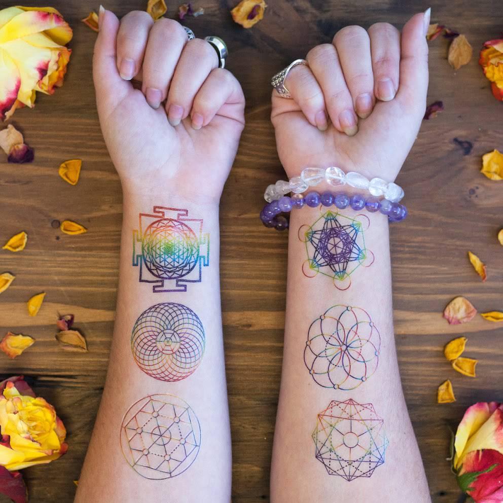 Rainbow sacred geometry tattoos for tuning into the blueprint of rainbow sacred geometry tattoo malvernweather Gallery
