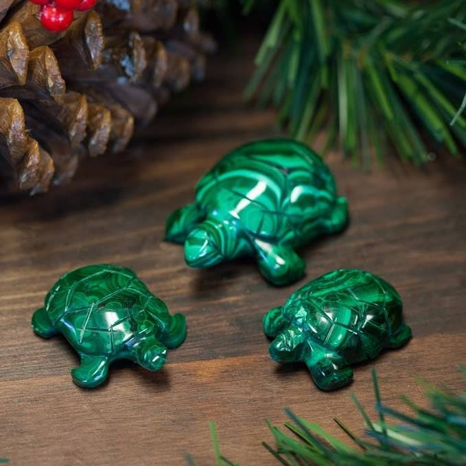 malachite turtles for grounding patience and healing