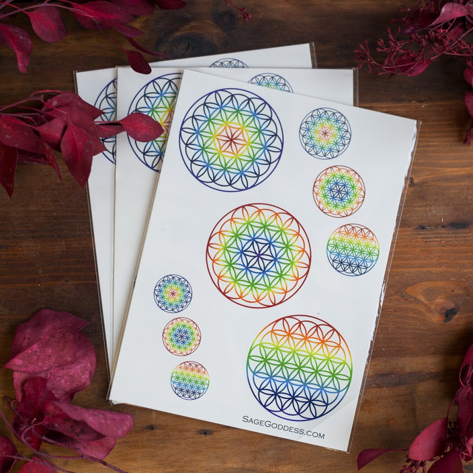 Rainbow flower of life tattoos for the perfect proportion of goddess rainbow flower of life tattoos for the perfect proportion of goddess adornment malvernweather Image collections