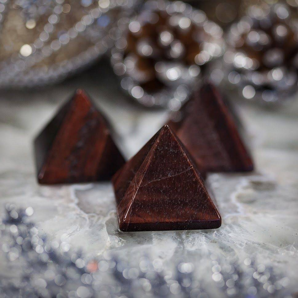 Red Tiger Eye Pyramid