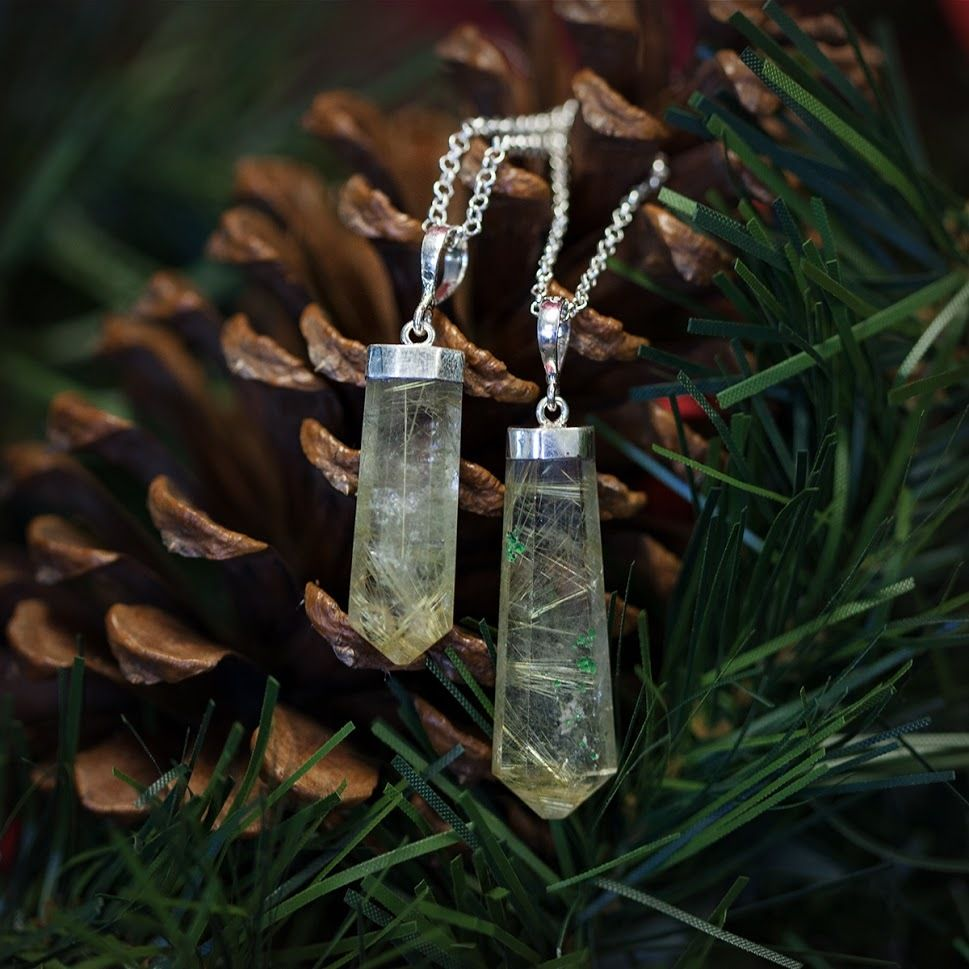 Rutliated Quartz Pendants