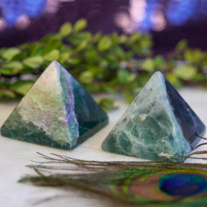 Rainbow Fluorite Pyramids 12_20