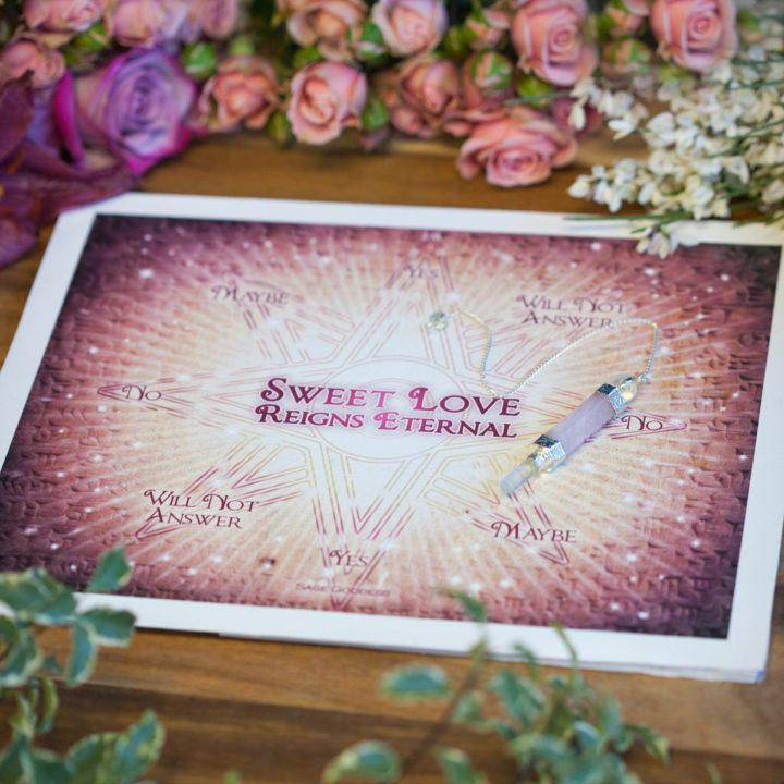 Sweet Love Reigns Eternal Pendulum Mat and Rose Quartz Pendulum 1_23