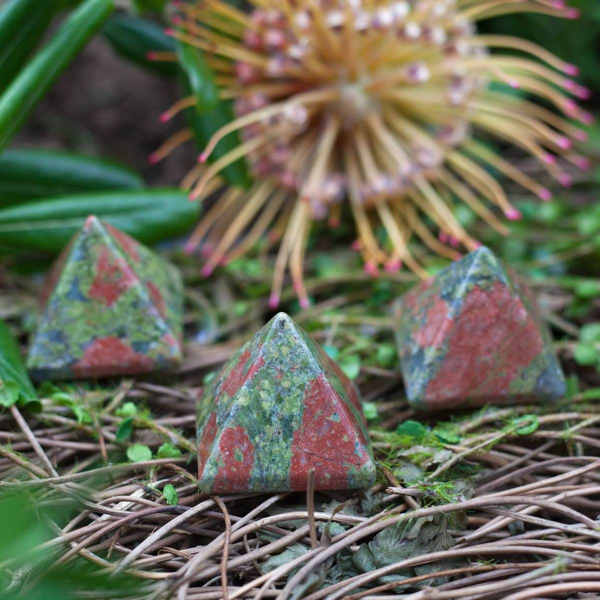 Unakite Jasper Pyramids 1_18