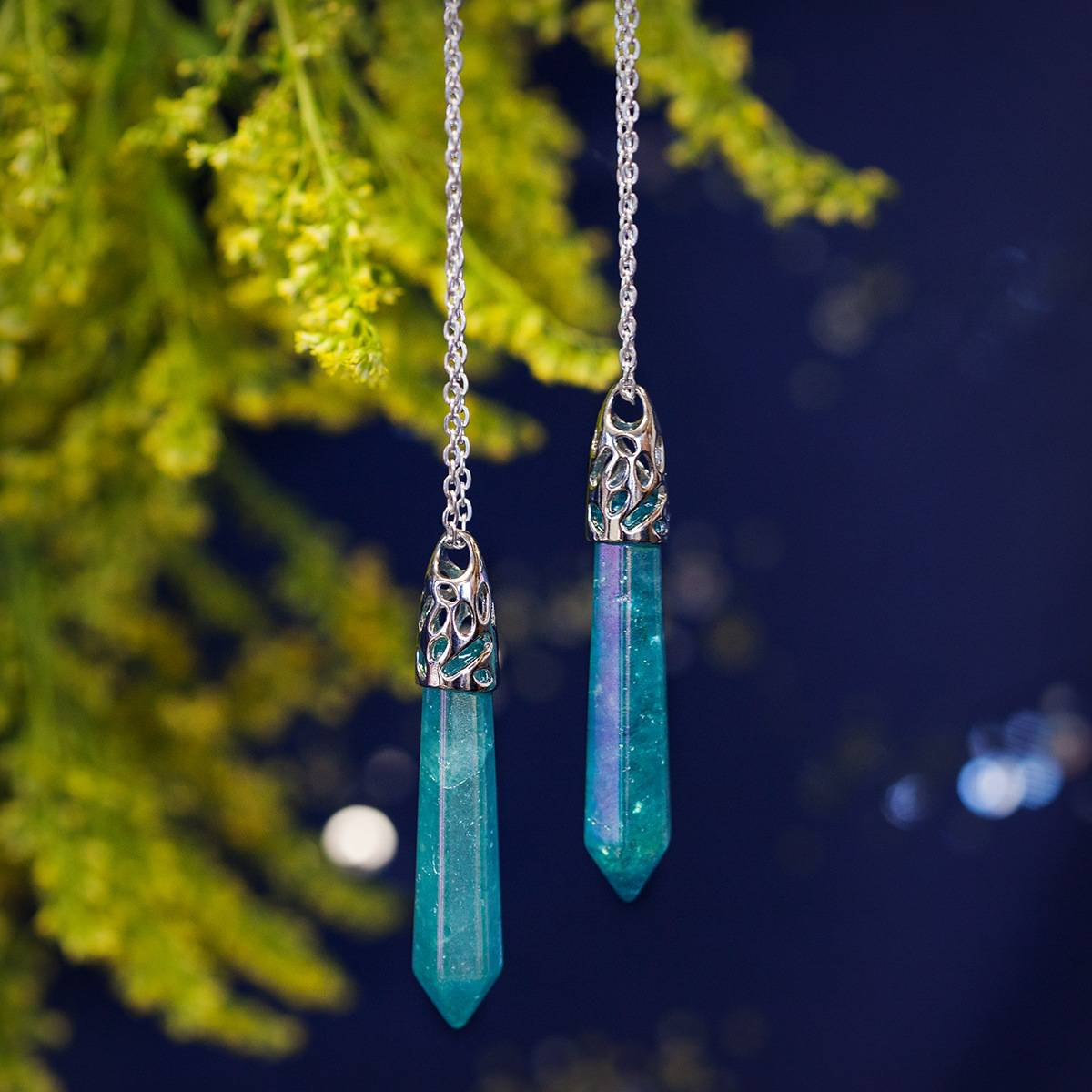 Aqua aura drop pendants for channeling the spiritual realms aqua aura drop pendant 26 aloadofball Image collections