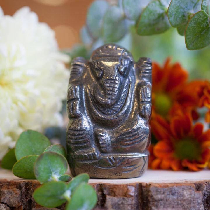 Pyrite Ganesh Statues 3_4