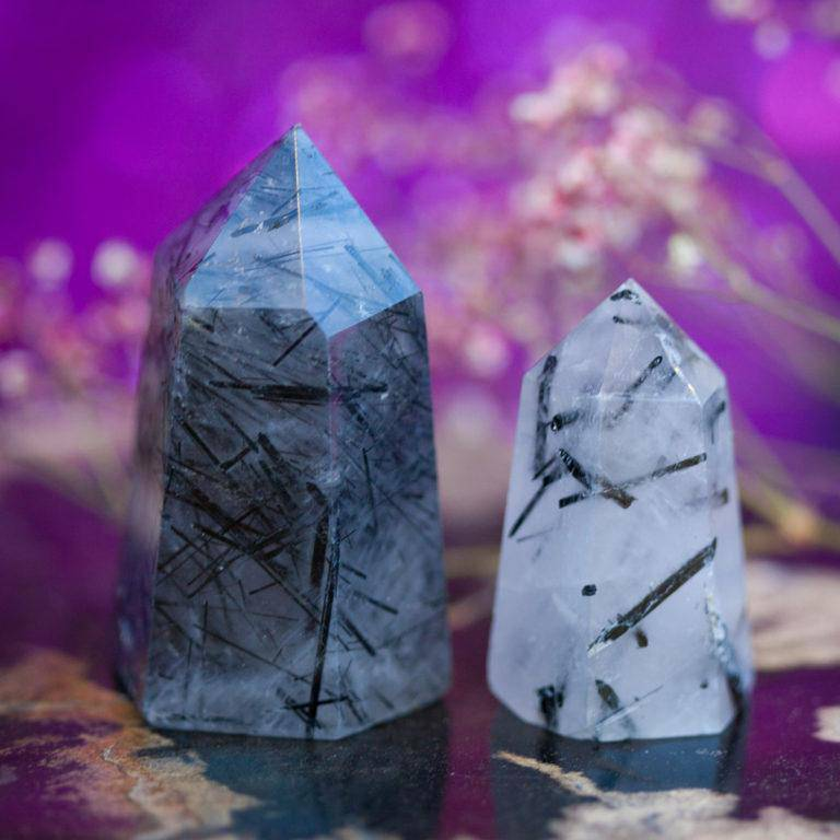 Tourmalinated Quartz Generators for clarity, purity, and psychic protection