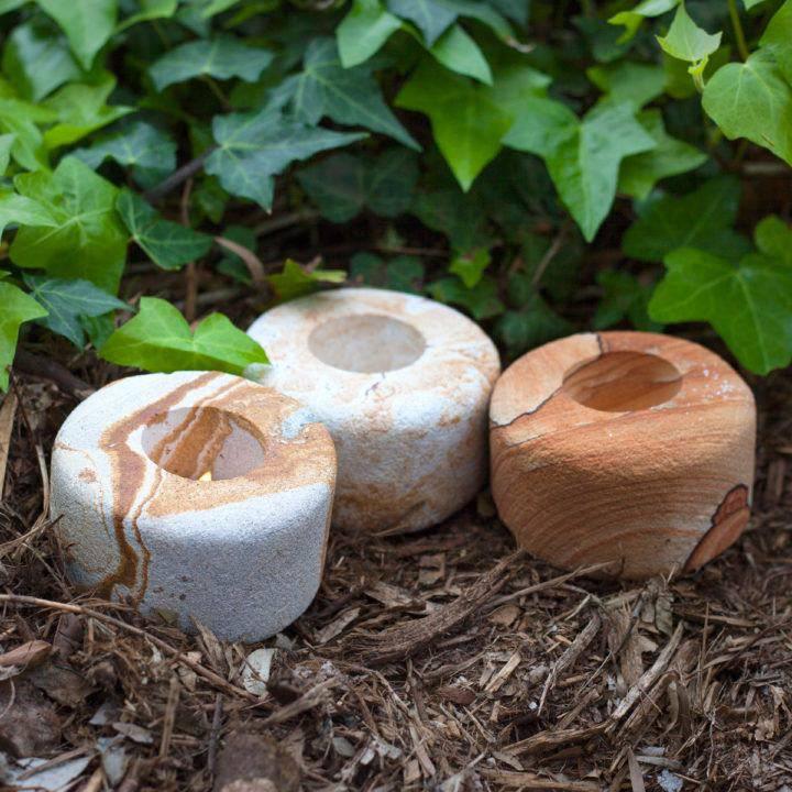 Zion Sandstone Circular Tea Light Holder 3_19