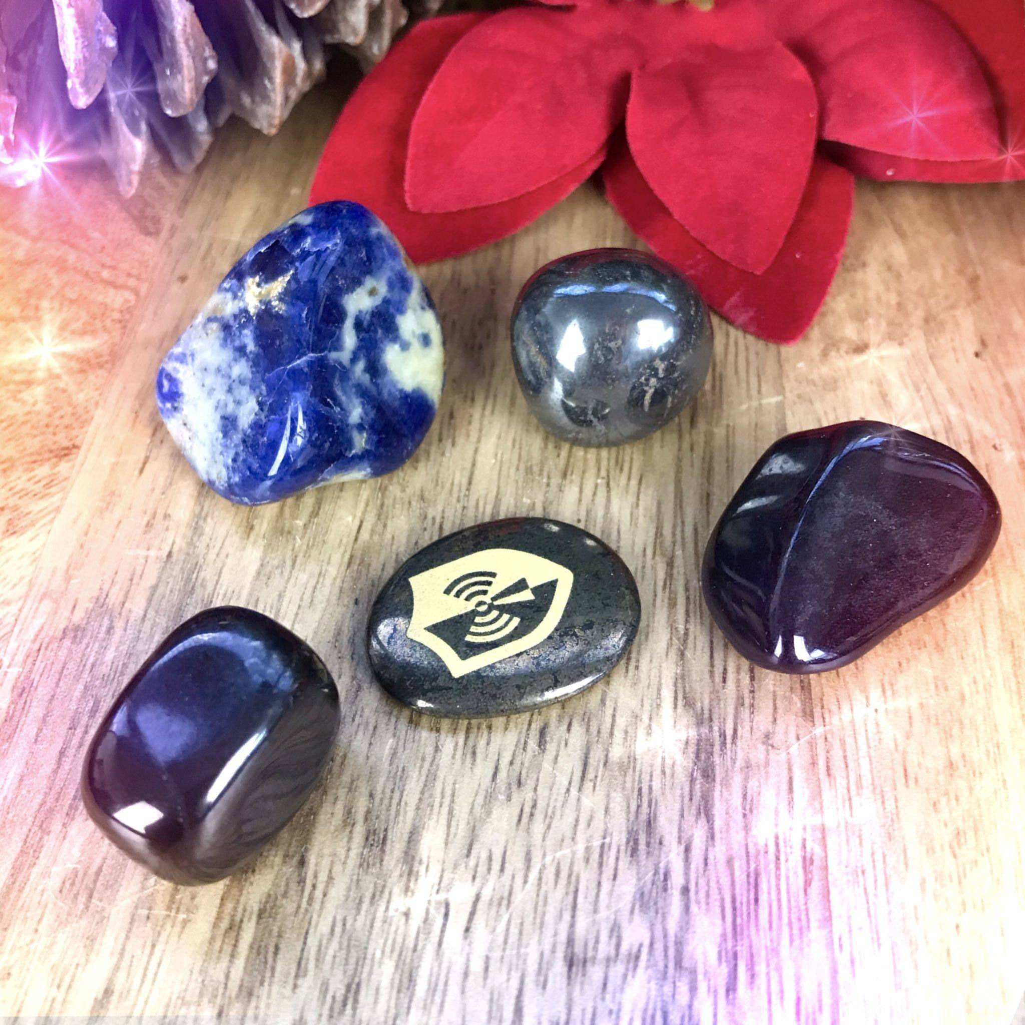 EMF Protection Stone Set to shield you from electromagnetic smog