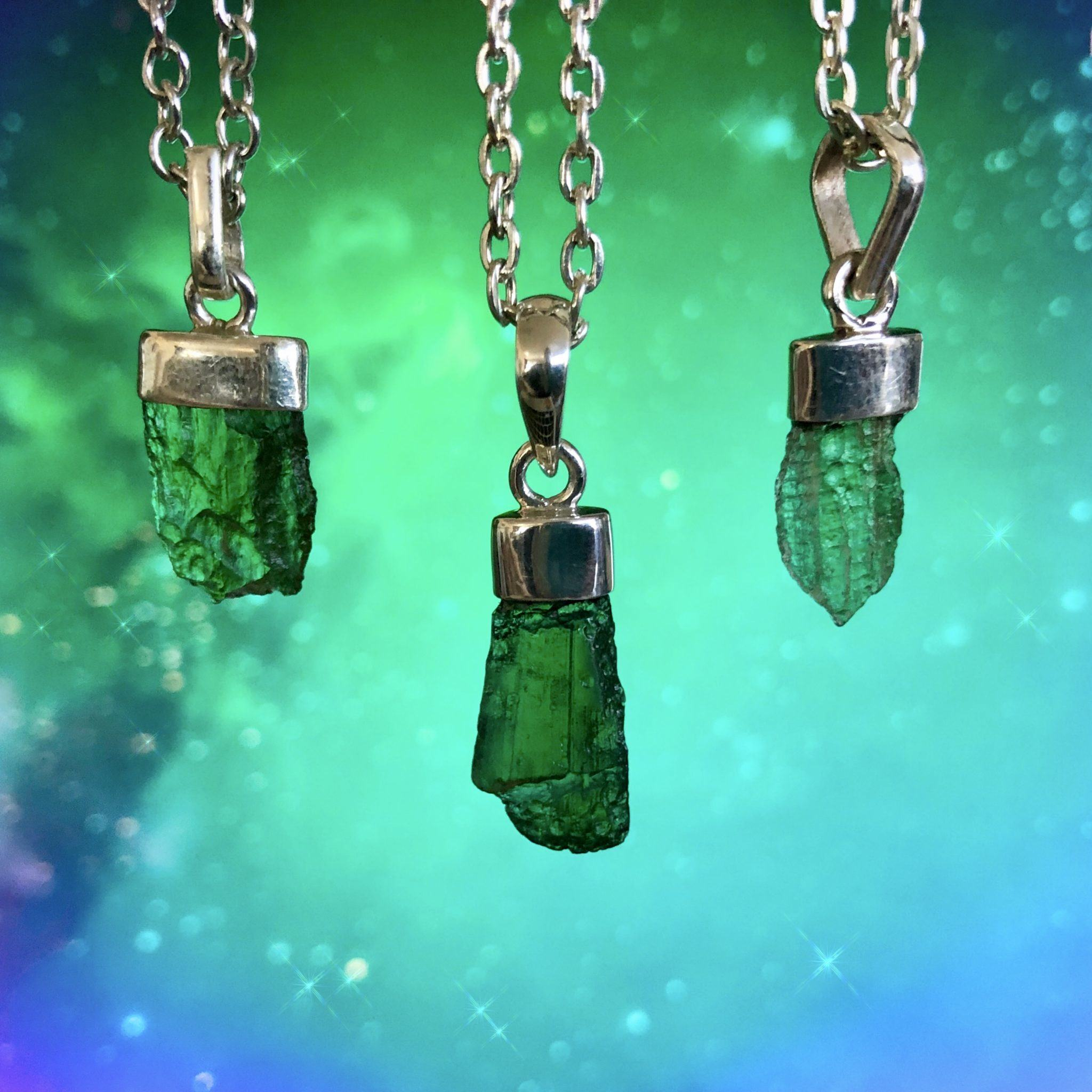 Moldavite Pendants for extraterrestrial contact and psychic expansion