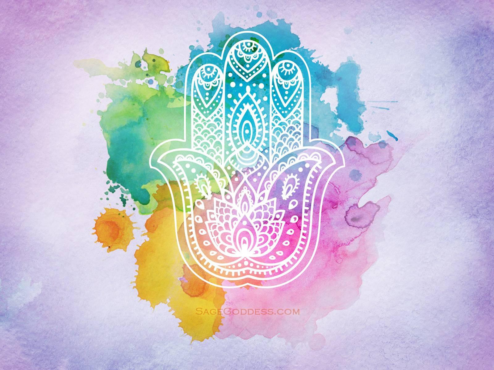 Free Custom Sage Goddess Downloadable Hamsa Hand Wallpaper