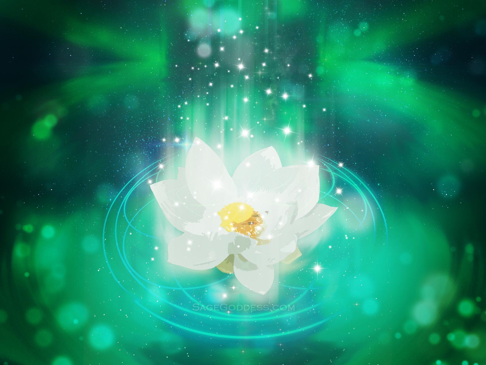 Free Custom Sage Goddess Downloadable Lotus Flower Wallpaper