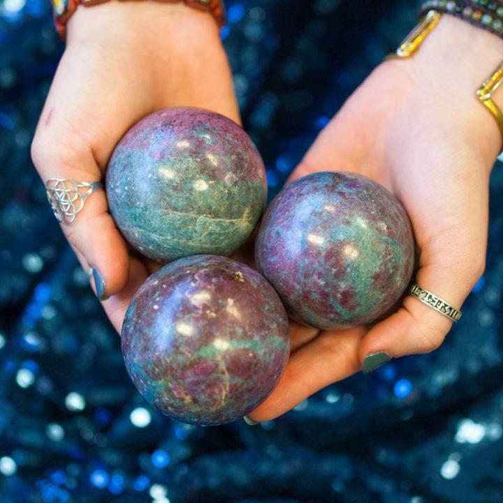 Ruby and Kyanite Sphere 5_2