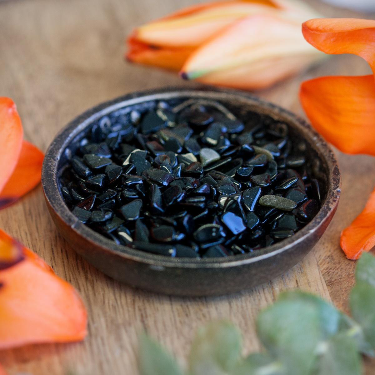 44c072acbca3 Black Obsidian Chip Stones for strength