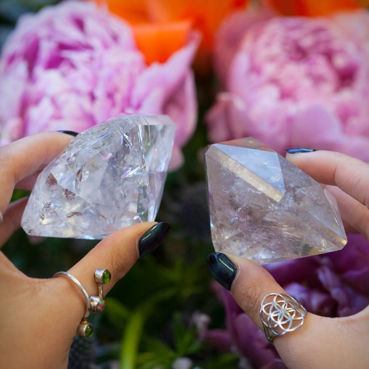 Faceted Quartz Diamonds 6_5