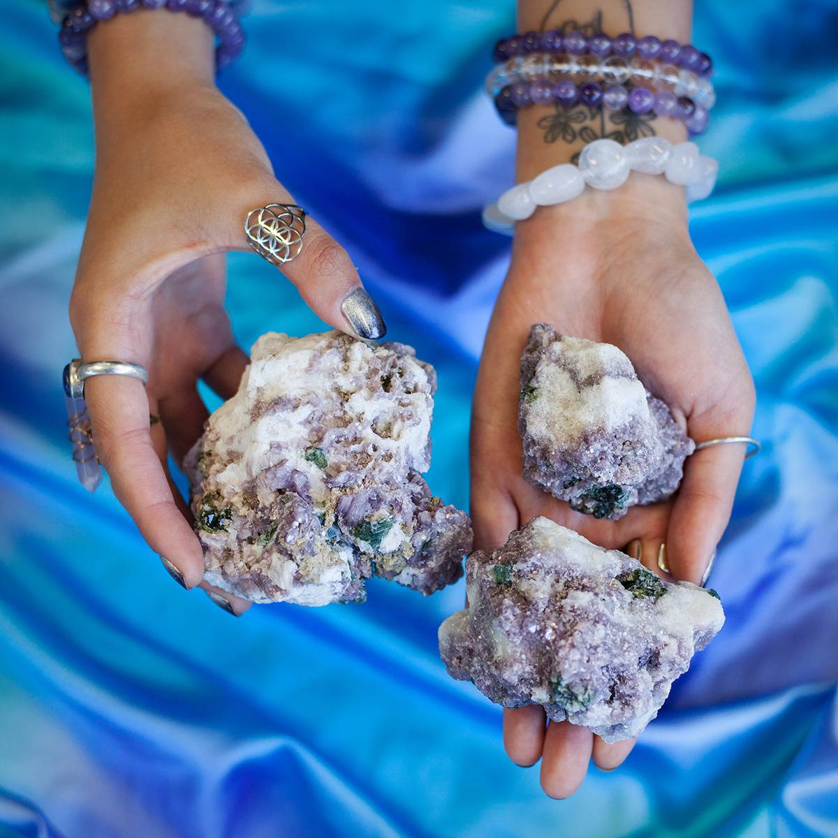Peaceful Healing Specimens _ albite and lepidolite _ 1 of 3 _ 6_28