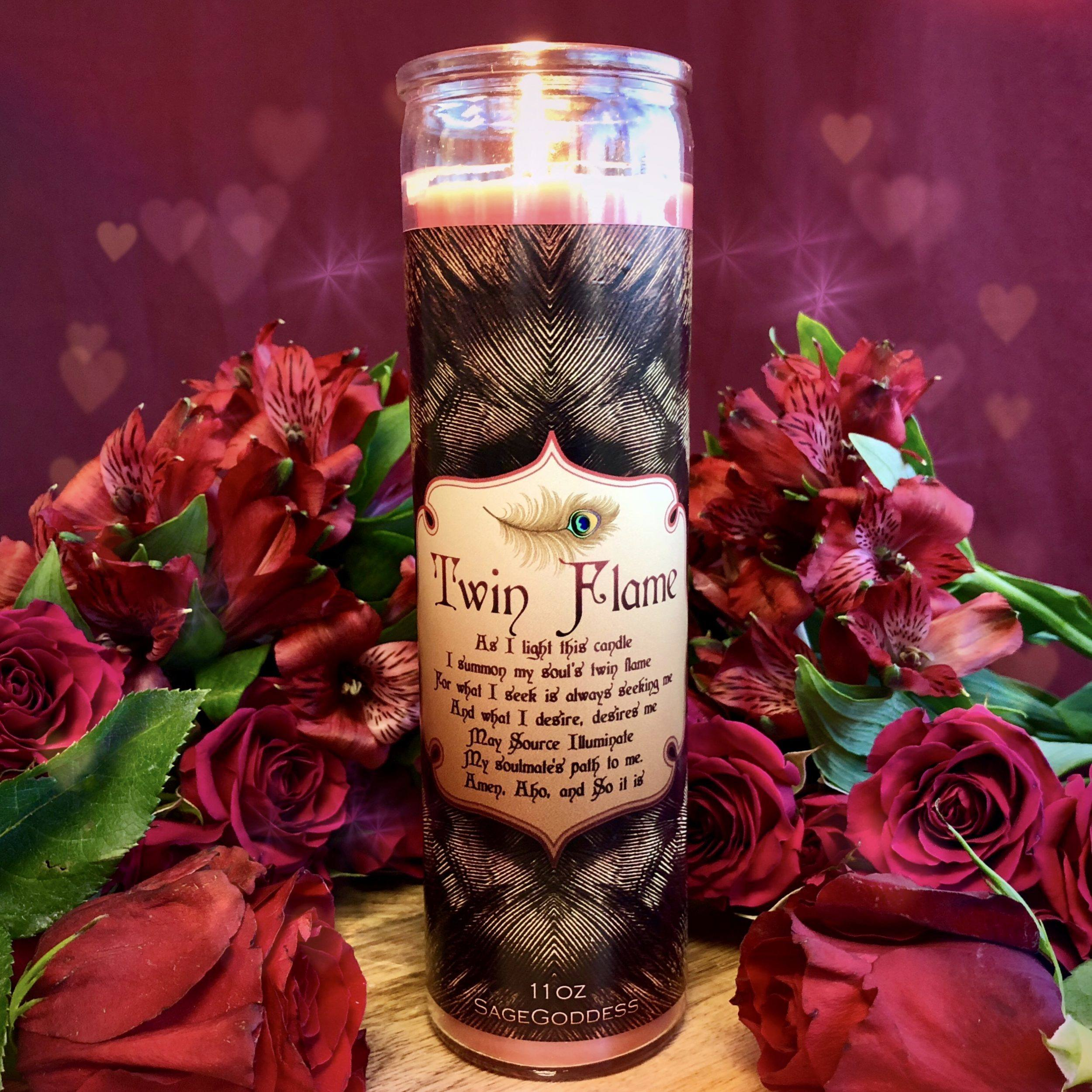 Twin Flame Intention Candles for love, attraction, and soul connection