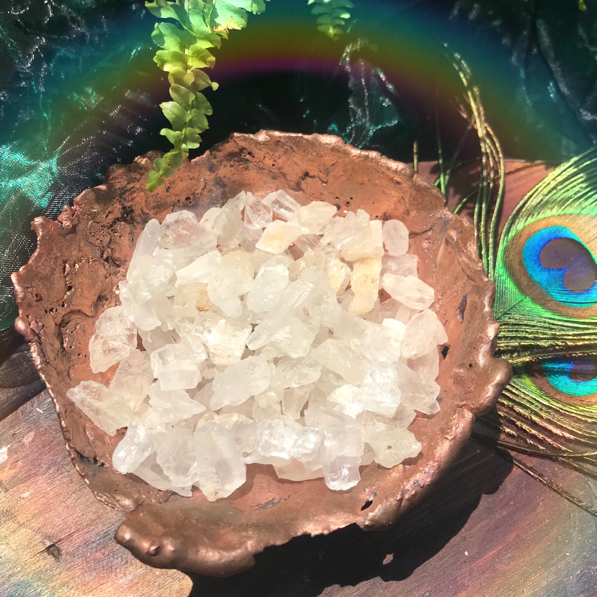 Natural petalite for angelic protection and access to the higher realms